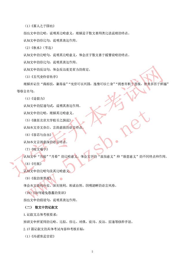 2019年师范类辽师汉语言专业课考试大纲